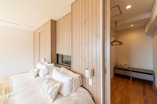 ゆったりとしたスペースのお部屋