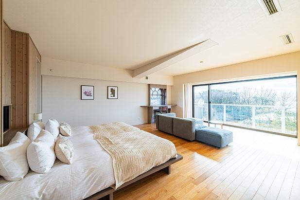 伊豆のリゾートホテル、UMITO the salon IZUの客室コンフォートデラックス2階-2